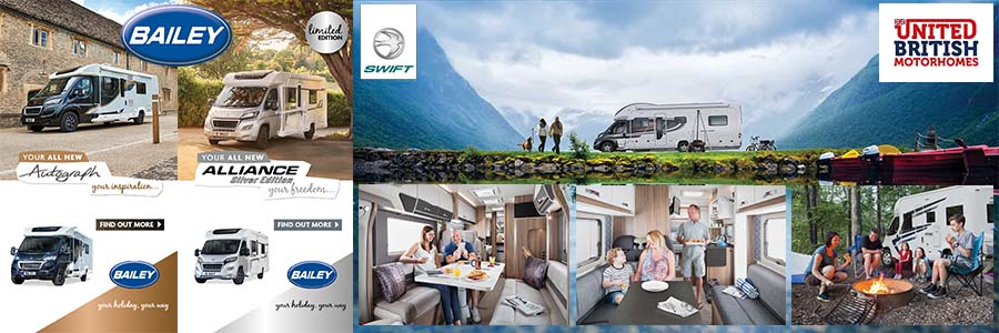 Bailey and Swift Motorhome Deals from United British Caravans