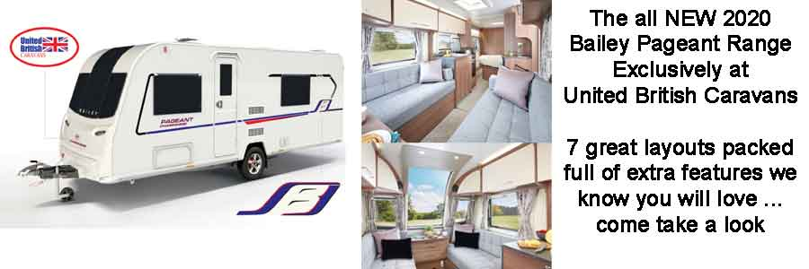 New Bailey Pageant Caravans United British Caravans